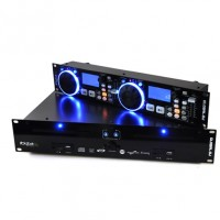Контроллер Ibiza Global DJ Double CD-плеер 2x USB 2x SD MP3 Scratch