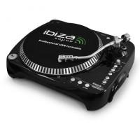 Проигрыватель винила Ibiza Free Vinyl MP3-плеер с USB Black