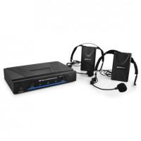 Комплект головных микрофонов QTX 171.818 2 канала 2 гарнитуры, кейс