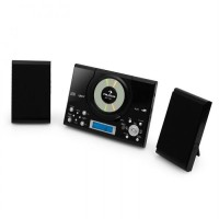 Микросистема Auna MC-120 вертикальный проигрыватель компакт-дисков USB AUX MP3 Black