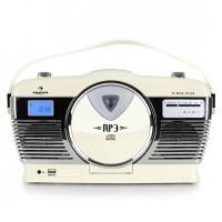Ретро радио Auna RCD-70 FM USB CD V1 Creme