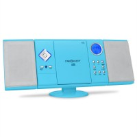 Вертикальная стереосистема ONEconcept V-12 USB CD MP3 SD AUX FM Blue