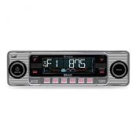 Автомобильная магнитола Auna RMD-Sender-One Autoradio Bluetooth USB SD MP3 AUX CD Ретро Silver