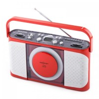 Магнитола oneConcept Boomtown CD Player Radio Red