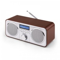 Радиоприемник Auna Georgia DAB Radio Wood DAB + FM Будильник AUX