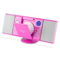 Вертикальная стереосистема ONEconcept V-12 USB CD MP3 SD AUX FM Pink