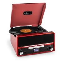 Ретро стереосистема музыкальный центр Auna RTT 1922 MP3 CD USB FM Винил Функция записи AUX VTA0