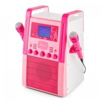 Караоке-система AUNA KA8P-V2 PK CD-плеер AUX 2 x микрофон Pink