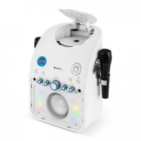 Караоке-система Auna StarMaker CD Bluetooth AUX LED White