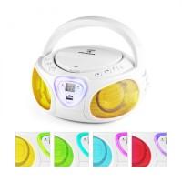 Компактный бумбокс Auna Roadie Boombox CD USB MP3 AM / FM-радио Bluetooth 2.1 LED
