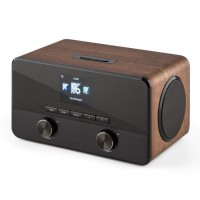 Мультимедиа центр Auna Connect 100 интернетрадио Bluetooth WLAN USB AUX Line Out Wood