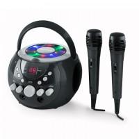 Портативная система караоке Auna Singsing LED 2 х микрофон Black