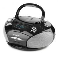 Бумбокс Auna RCD 220 CD Boombox USB кассетная дека PLL FM-радио MP3 Black