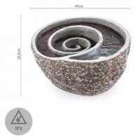 Декоративный каскадный фонтан Blumfeldt Spiro LED 47x41x23,5 см помпа, имитация натурального камня