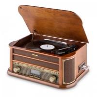 Ретро-стереосистема проигрыватель Auna Belle Epoque 1908 DAB + Bluetooth Винил Wood