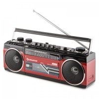 Портативный бумбокс Auna Duke Retro USB SD Bluetooth FM-радио RED