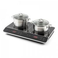Двойная индукционная варочная плита Klarstein VariCook Slim Double Induction Cooker 3500 Вт Таймер 240 ° C Touch