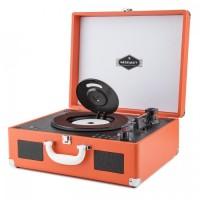Портативный ретро проигрыватель Auna Peggy Sue CD USB SD Vinyl ORG
