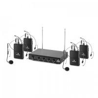 4-канальный беспроводной микрофонный набор Auna VHF-4-HS 1 HeadSet