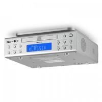 Кухонное радио Auna KRCD-150 CD USB AUX FM RDS Будильник пульт ду Silver