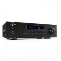 4-зонный стерео усилитель Auna AV2-CD850BT  RMS 8 x 50 Вт Bluetooth USB  Радиоуправление 30 м BK
