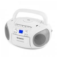 Бумбокс Auna BoomBerry Radio CD / MP3-плеер кассетный плеер White