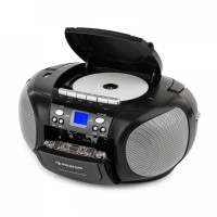 Бумбокс Auna BoomBoy Radio CD / MP3-плеер кассетный плеер Black