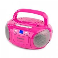 Бумбокс Auna BoomGirl Radio CD / MP3-плеер кассетный плеер