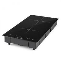 Индукционная двойная варочная поверхность Klarstein VariCook Domino 3100 Вт, стеклокерамика VTA15