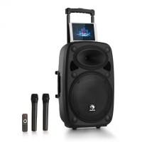 Мобильная акустическая система Auna StreetStar PA 15 BT AUX USB / SD / MP3 2xUHF ДУ 1000 Вт макс.