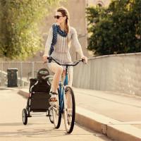 Транспортировочная тележка/велосипедный прицеп DURAMAXX Carry Red макс. нагрузка 20 кг