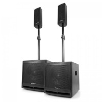 """Активная акустическая система Vonyx VX1000BT 2.2 1000 Вт 10 """"сабвуфер BT USB SD MIC AUX"""