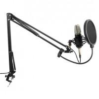 Студийный комплект с микрофоном с большой диафрагмой Vonyx Studio Set Mikrofon, кронштейн, паук, отражатель, кабель
