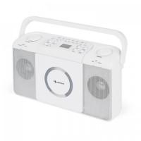 Портативный радиоприемник Auna Boomtown USB CD MP3 FM White