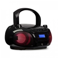 Бумбокс Auna Roadie DAB CD Bluetooth DAB / DAB + FM LED Световой эффект Black