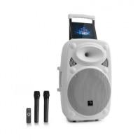 Мобильная акустическая система Auna StreetStar PA 15 BT AUX USB / SD / MP3 2xUHF ДУ WH