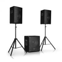 "Комплект акустики Auna Cube 1512 Active PA Set 1200 Вт, 15 ""сабвуфер, 2 x 12"" динамика"