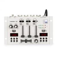 3/2-канальный DJ-микшер Resident DJ  22BT 2CH Mixer 2x USB 3x 6.3 jack White DM1