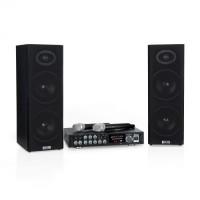 Акустическая система Auna Karaoke Star 4, 2 х 80 Вт макс., BT, USB-порт, 2 х микрофона