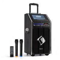 """Мобильная акустическая система Auna DisGo Box 100 DVD, макс. 300 Вт, TFT-дисплей 9 """", DVD, BT VT1"""