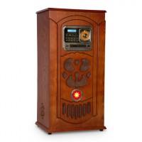 Музыкальный автомат Auna Musicbox проигрыватель винила, CD, BT, USB, SD, FM-тюнер, дерево