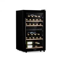 Винный холодильник Klarstein Barossa 34D 2 зоны 34 бутылки стеклянная дверь Touch LED