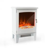 Электрический камин Klarstein Meran 950/1850 Вт с регулируемой яркостью света InstaFire White