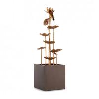 Декоративный фонтан Blumfeldt Golden Orchid с эффектом латуни 5 Вт IPX8 для помещений и улицы