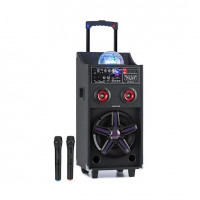 Мобильная акустическая система Auna DisGo Box 100 50 Вт RMS BT SD USB LED АКБ