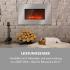 Электрический камин Klarstein Lausanne Luxe 2000W 2 ступени нагрева 90 см нержавеющая сталь VT1