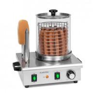 Аппарат для приготовления хот-догов Klarstein Hot Dog Maker Wurstfabrik Pro 550 Вт 2 нагревателя 30-100 ° C нержавеющая сталь