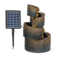 Каскадный фонтан Blumfeldt Mantua 4 уровня, работа от батареи 2,8 Вт солнечная панель светодиодная
