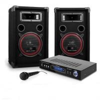 Комплект Electronic-Star DJ-11 DJ PA 5-канальный ресивер, пассивная акустика 2x 200 Вт, динамический микрофон