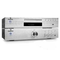 Комплект Auna Elegance Tower 2.0 HiFi-Set MP3-CD-Player усилитель 600W Silver